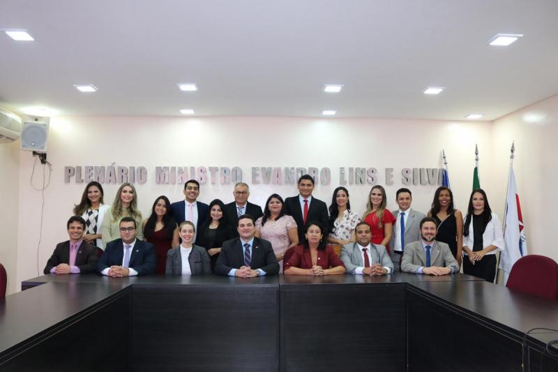 OAB PI recebe visita de formandos  de Direito da faculdade FATEP//FAESPI