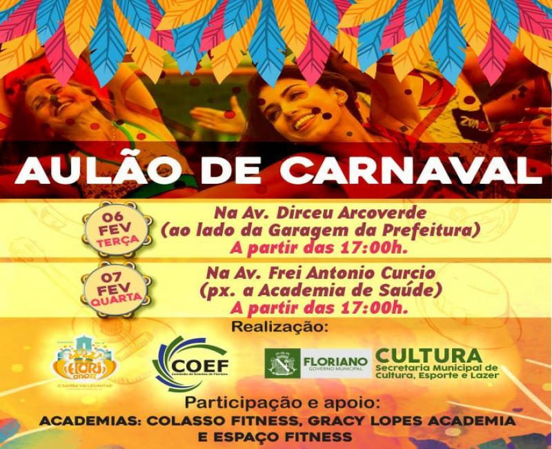 Aulão de Carnaval promete preparar foliões para o Carnaval 2018