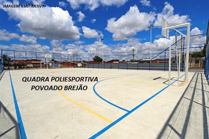 Prefeitura Barro Duro inicia construção de quadra poliesportiva no Brejão
