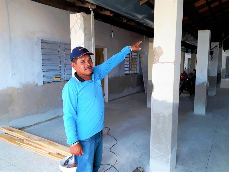 Prefeitura municipal de Joaquim Pires realiza reforma e ampliação da Unidade Escolar Luís Rodrigues