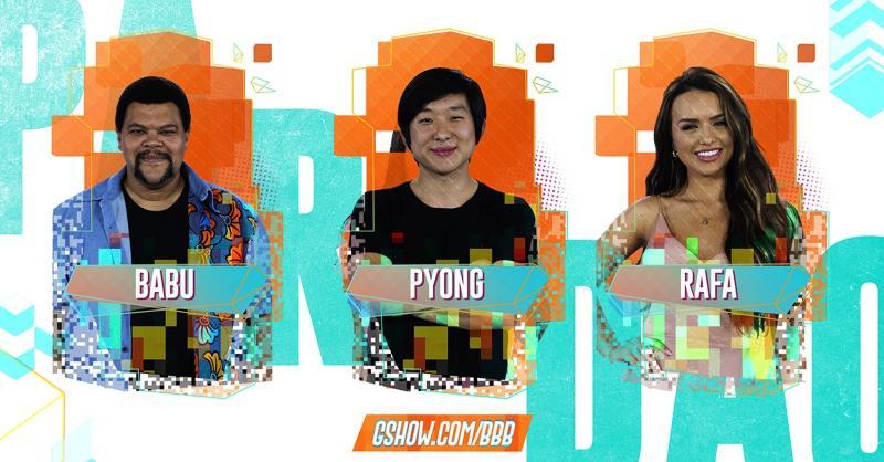 Babu, Pyong e Rafa estão no oitavo paredão do BBB 20