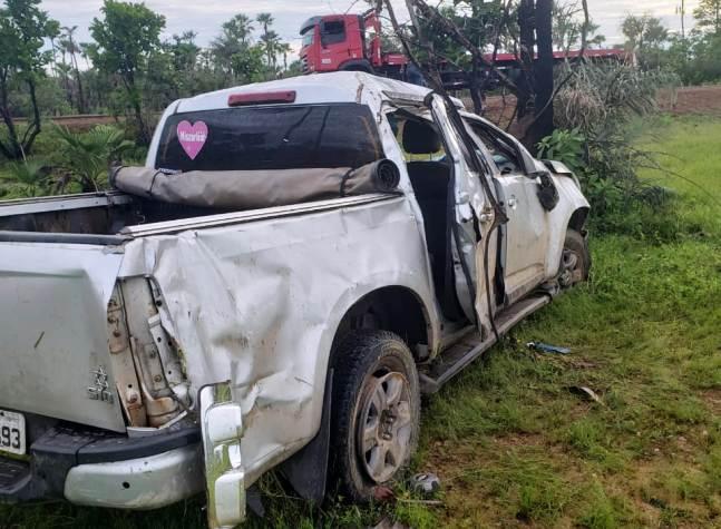 Empresário campo-maiorense sofre acidente após desviar de vaca na PI-114
