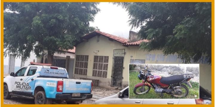 Polícia de São João do Arraial apreende moto com registro de roubo ou furto