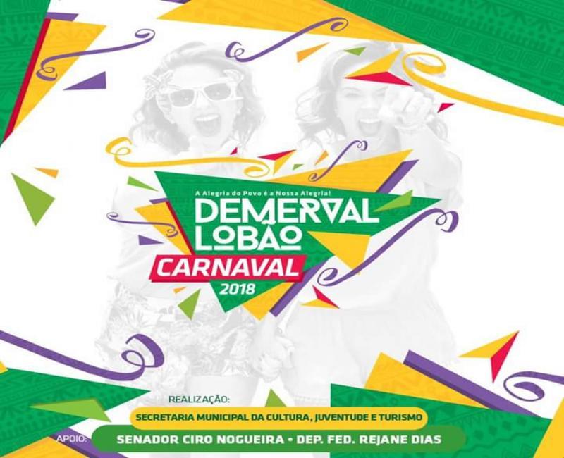 Programação completa do carnaval de Demerval Lobão