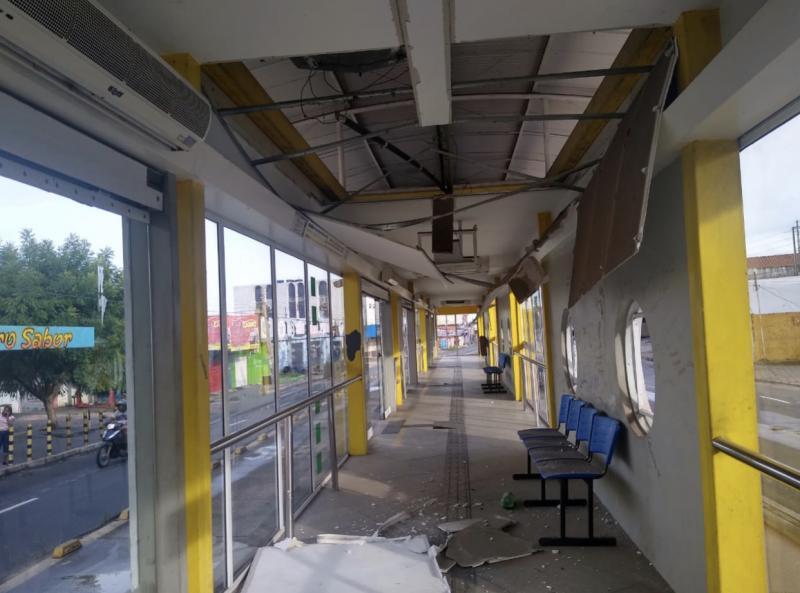 Estação de passageiros em Teresina é alvo de ação criminosa