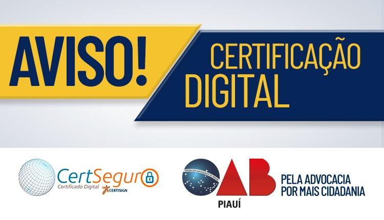 Certificação Digital terá atendimento online para renovação e reagendamento
