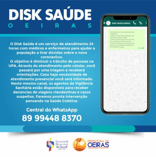 População de Oeiras pode tirar dúvidas e fazer denúncias pelo WhatsApp