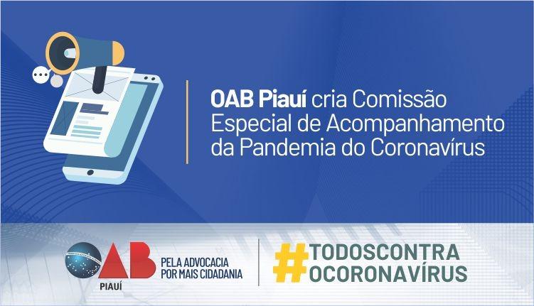 OAB PI cria Comissão Especial de Acompanhamento da Pandemia do Coronavírus