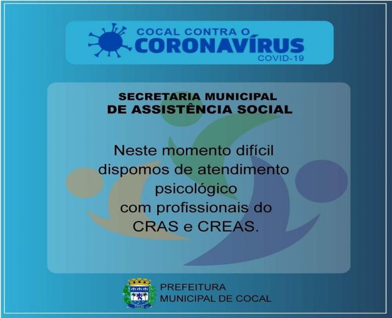 Secretaria de Assistência Social e Saúde se unem na luta contra o covid-19