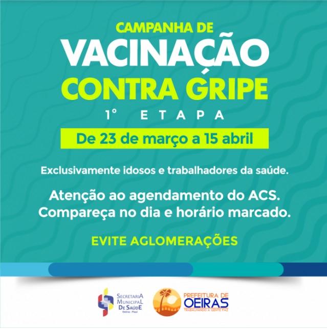 Campanha de vacinação contra a gripe acontece até 15 de abril em Oeiras
