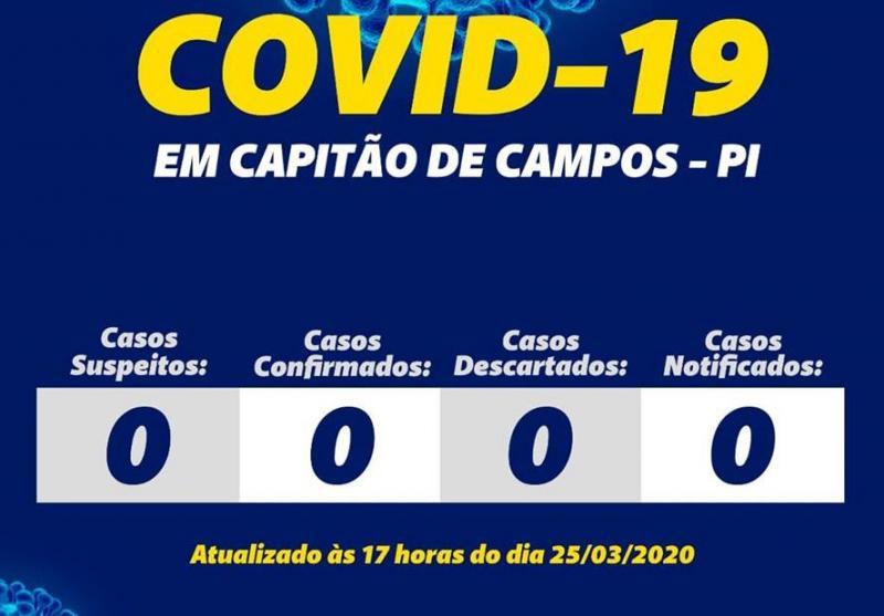 Capitão de Campos: Prefeitura monitora e mantém registro zero de COVID19