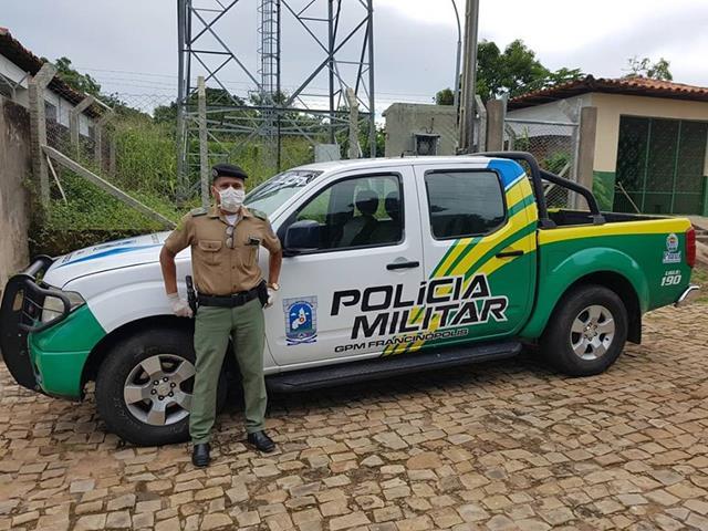 Grupamento da Polícia Militar de Francinópolis recebe nova viatura