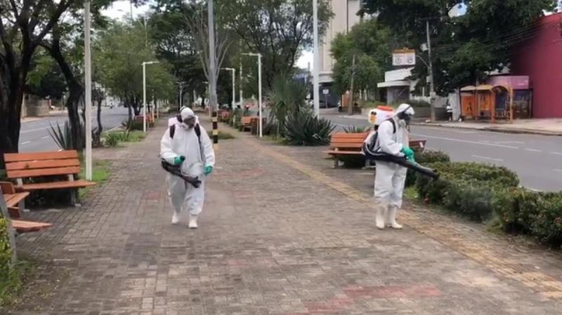 Espaços públicos de Teresina passam por sanitarização