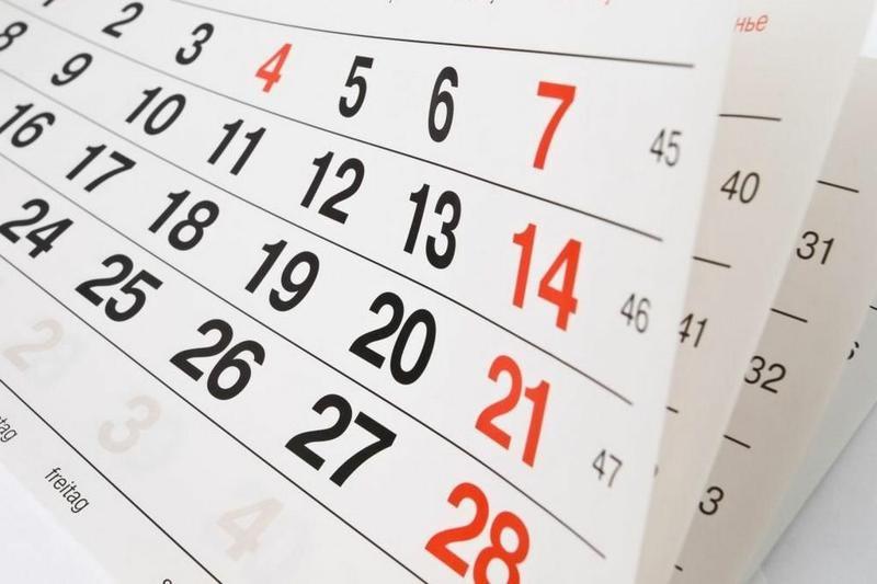Governo divulga calendário dos pontos facultativos de 2018