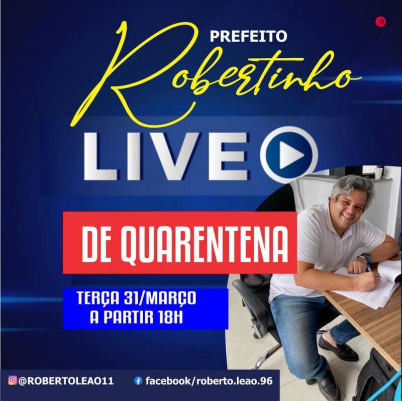 Covid-19: Prefeito de Miguel Leão fará live para falar sobre medidas