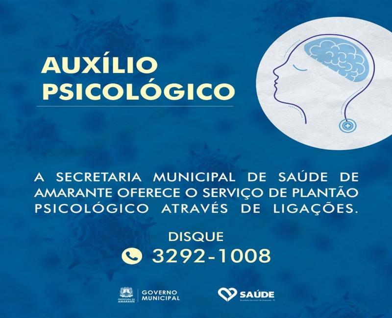 Psicólogos de Amarante oferecem atendimento em meio à pandemia