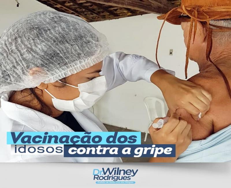 Campanha de vacinação contra gripe é realizada em Santa Cruz dos Milagres