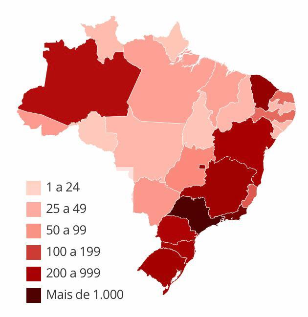 Brasil registra 167 mortes por coronavírus