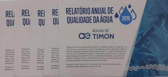 Relatório aferindo qualidade da água no município é entregue aos timonenses