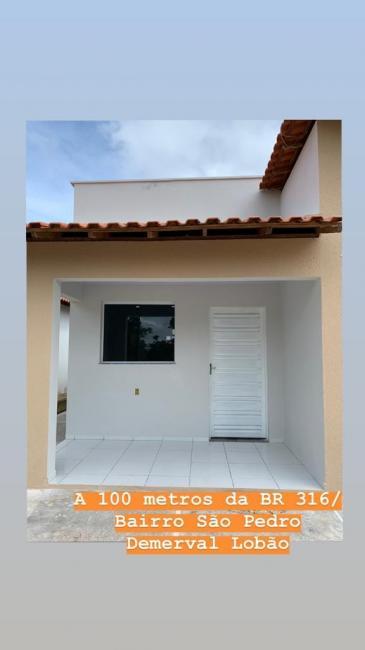 Casa Própria | Vende-se casa em Demerval Lobão a 100 metros da BR