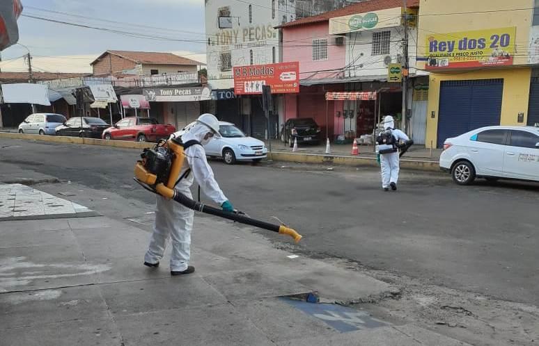 Águas de Timon doa produtos químicos para desinfecção de áreas públicas