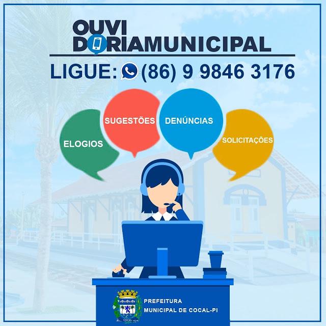 Coronavírus: Prefeitura de Cocal disponibiliza ouvidoria municipal