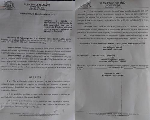 Decreto municipal disciplina paradas, estacionamento e uso de som automotivo durante o carnaval