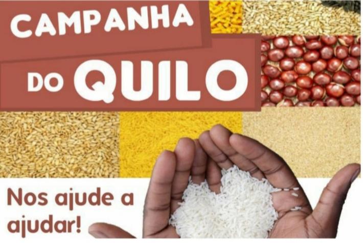 Campanha de doação de alimentos para famílias carentes em São J do Arraial