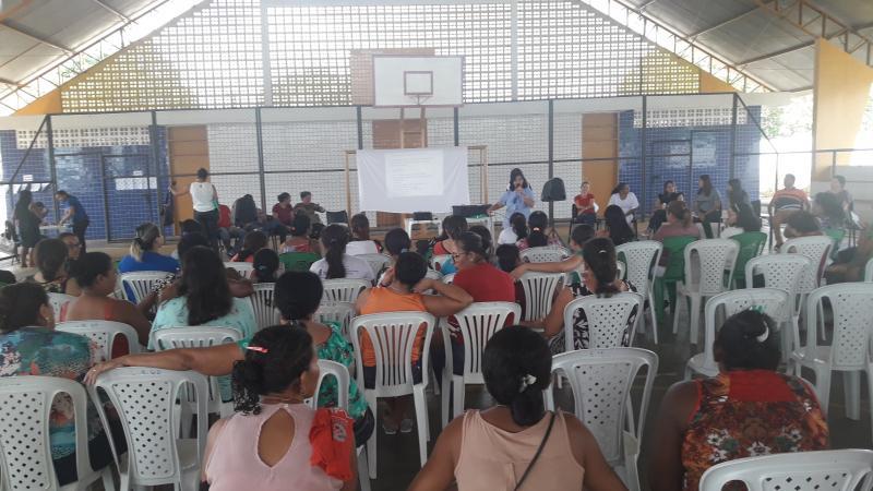 Escolas municipais de Olho D'água realizam o 1° encontro de pais e professores
