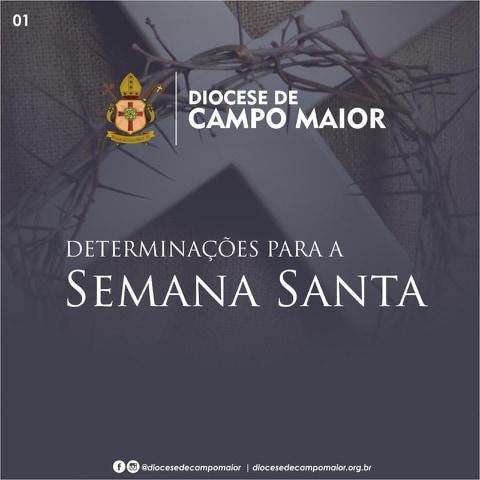 Paróquia de São Benedito divulga programação para semana santa 2020