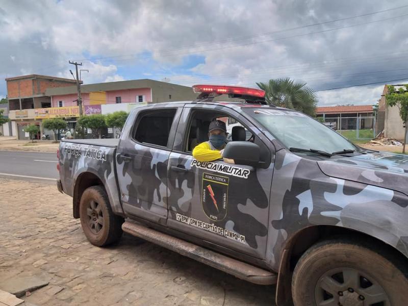 Capitão de Campos: Polícia Militar apoia equipe de monitoramento COVID-19