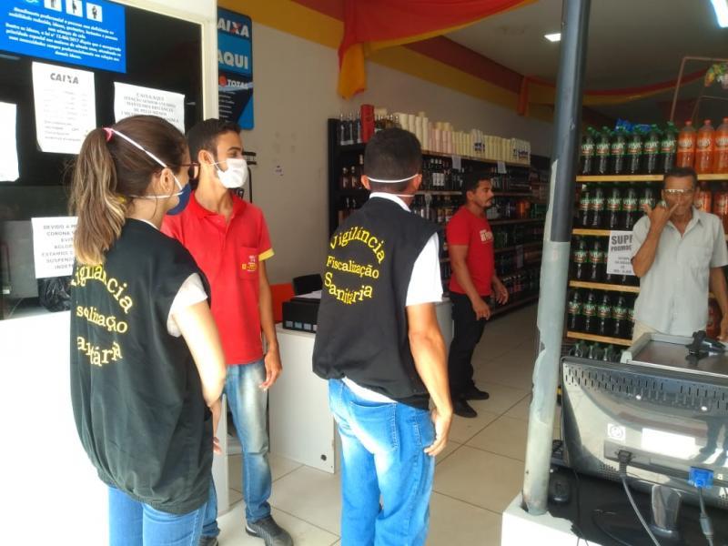 Covid-19: Vigilância Sanitária fiscaliza medidas preventivas em Aguá Branca