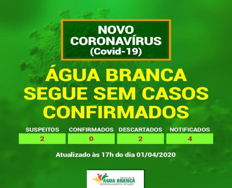 Água Branca segue sem nenhum caso confirmado de Coronavírus