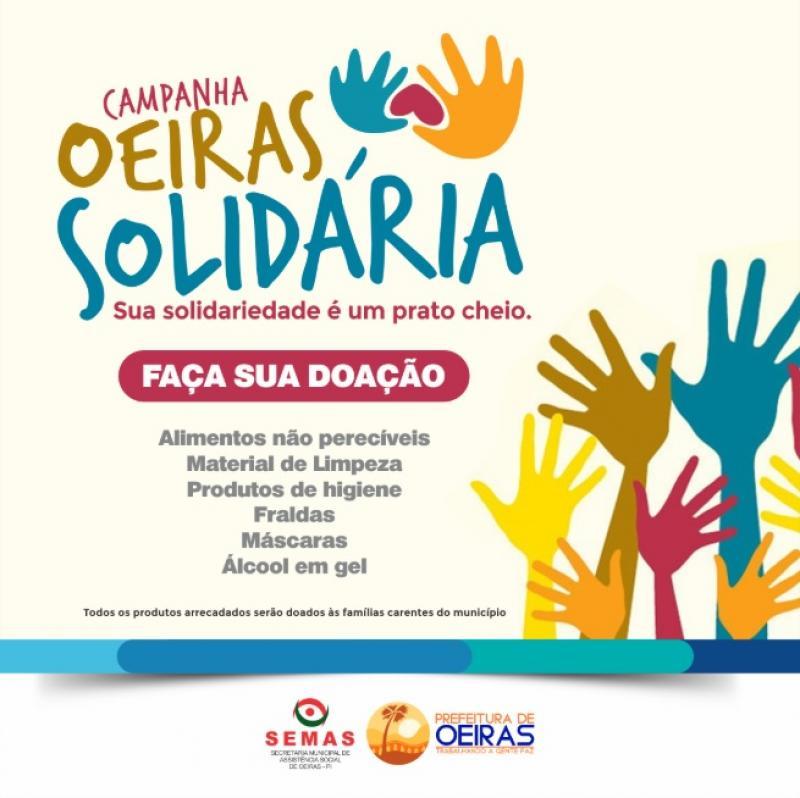 Campanha 'Oeiras Solidária' arrecada alimentos e produtos de higiene