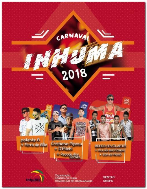 Programação Carnaval 2018-Inhuma