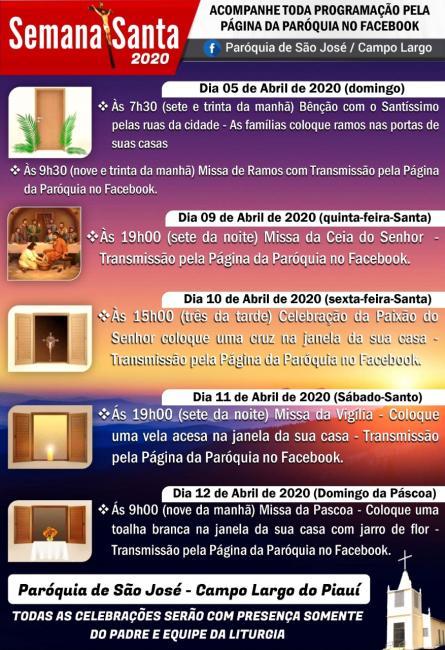 Paróquia São José lança programação especial para Semana Santa