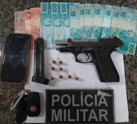 Em Timon: militares prendem homem com pistola 380 municiada