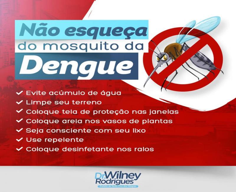 Prefeitura de Santa Cruz dos Milagres alerta para cuidados contra dengue