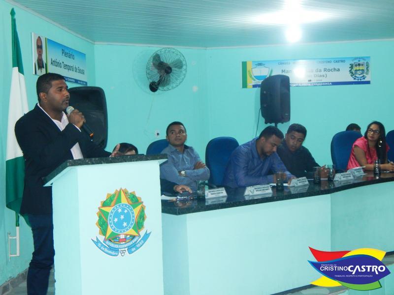 Prefeito Dr. Manoel Júnior da boas vindas ao ano legislativo