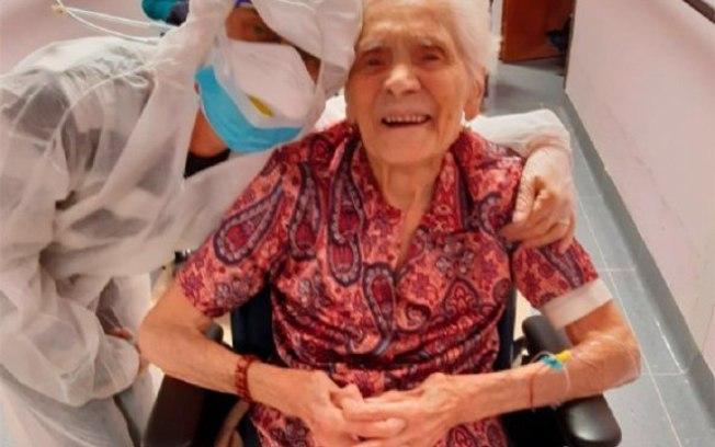 Mulher de 104 anos é a pessoa mais velha a se curar do novo coronavírus