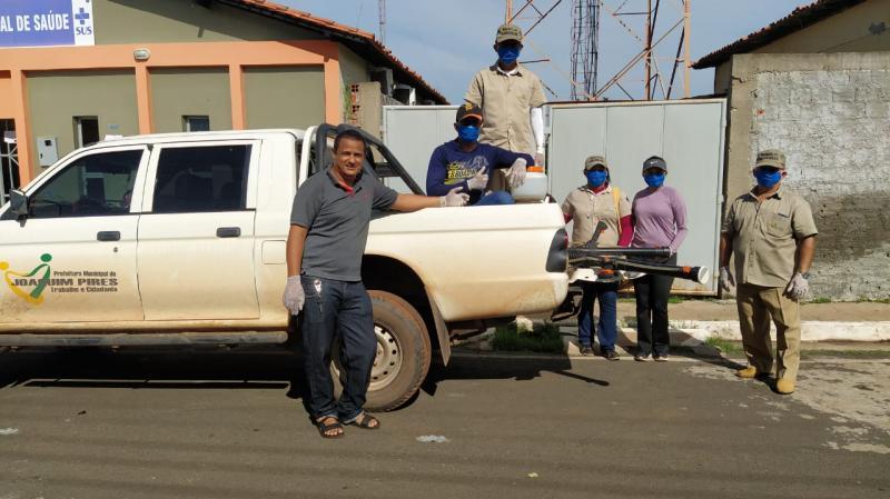 Prefeitura de Joaquim Pires realiza sanitarização em locais públicos
