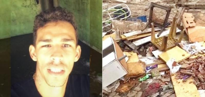 Jogador do River-PI tem casa destruída pela chuva e pede ajuda na web