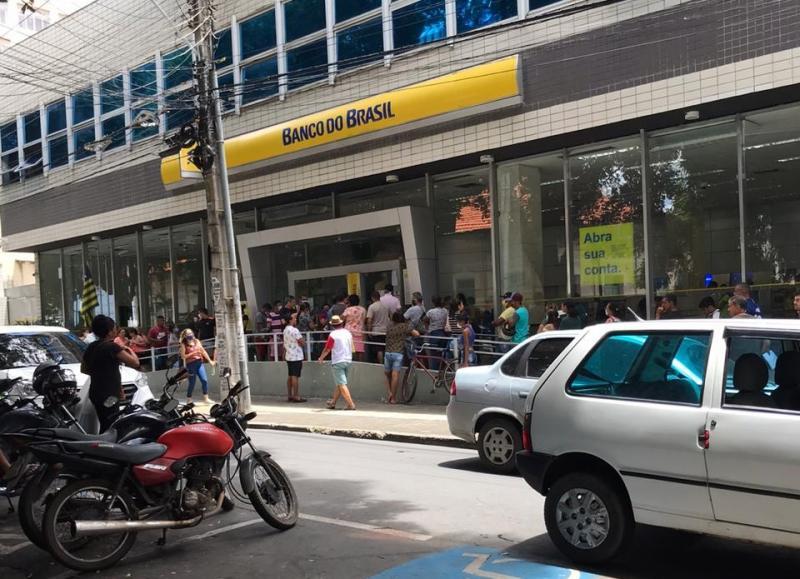 Guarda Municipal fiscaliza filas em bancos e lotéricas