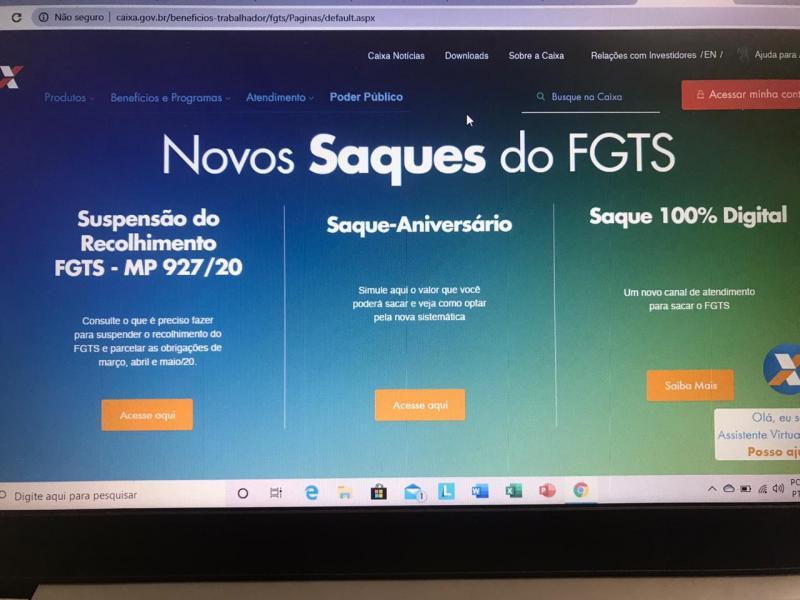 Covid-19: Governo autoriza saque de R$ 1.045 do FGTS