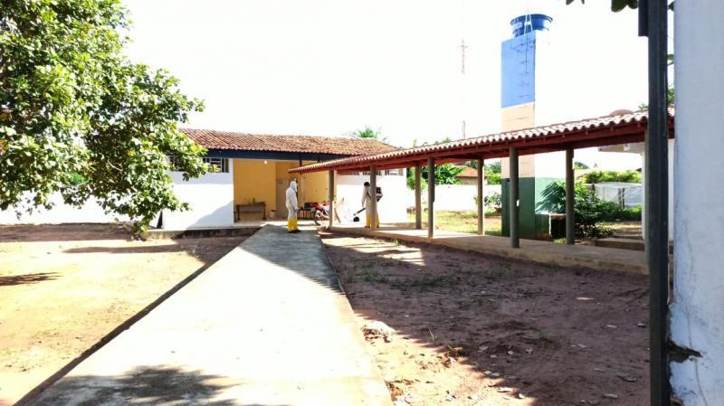 Prefeitura de Landri Sales faz desinfecção de espaços de grande movimentaçã