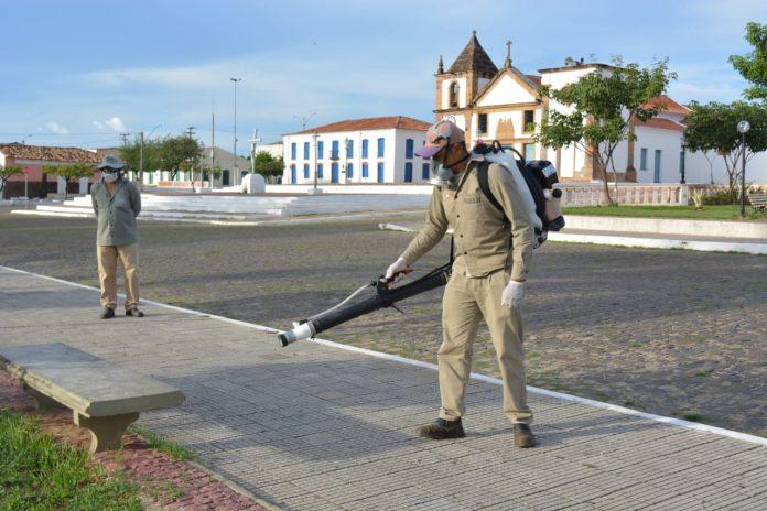 Coronavírus: Prefeitura realiza desinfecção de espaços públicos em Oeiras