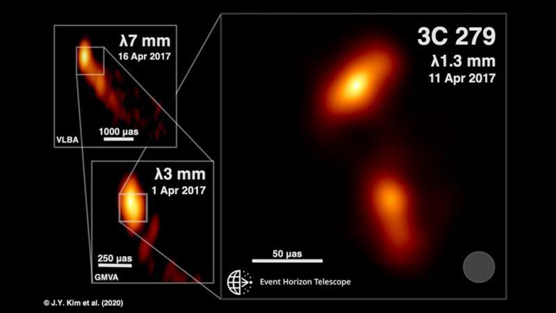 Imagem inédita de buraco negro expelindo radiação é capturada