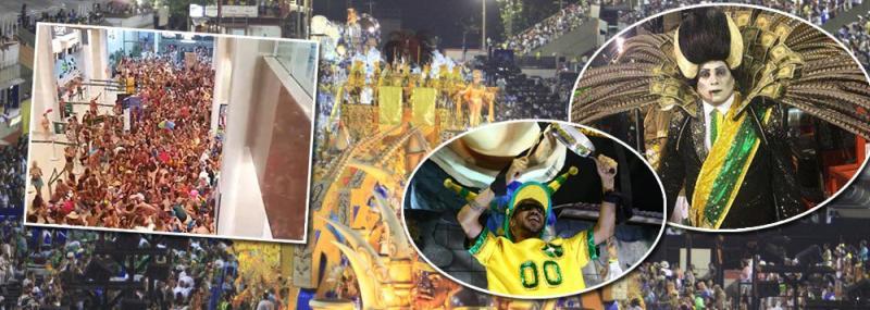 Escola de samba protesta contra 'golpe no Brasil' em desfile no Rio
