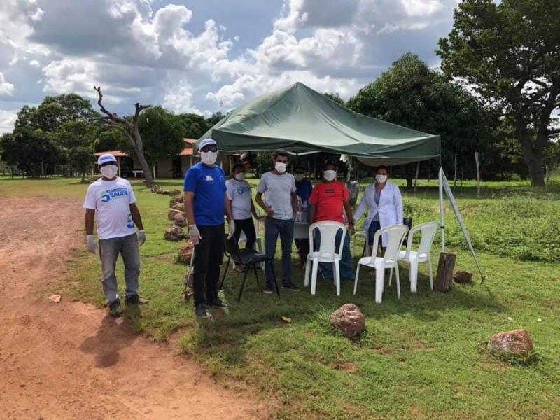 Saúde de Pau D'arco realiza blitz educativa contra o coronavírus
