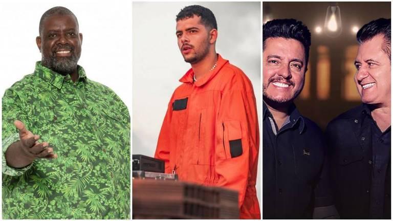 Péricles, Pedro Sampaio e Bruno e Marrone fazem live show nesta quinta